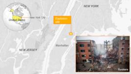 Explosion in Harlem, New York.