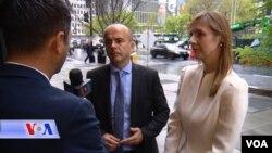 Министерот за финансии Драган Тевдовски и гувернерката на Народната банка Анита Ангелоска - Бежоска во разговор за Гласот на Америка