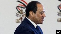 Le président égyptien Abdel-Fattah El-Sissi, au Caire, le 28 avril 2017.