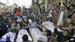 穆斯林為遇難者準備下葬