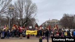 藏人团体2019年3月10日在白宫前集会(公民力量照片)
