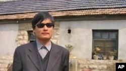 中国盲人维权人士陈光诚(资料照片)