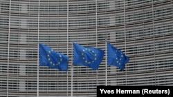 Zastave EU u Briselu