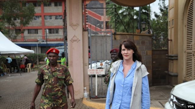 VOA's Hanna McNeish reporting for VOA from the siege of the Westgate Premier Shopping Mall in Nairobi, Kenya, September 24, 2013