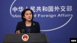 中國外交部發言人華春瑩 (資料圖片)
