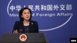 화춘잉 중국 외교부 대변인 (자료사진)