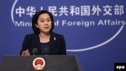 Phát ngôn viên Bộ Ngoại giao Trung Quốc Hoa Xuân Oánh.
