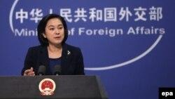 Người phát ngôn Bộ Ngoại giao Trung Quốc Hoa Xuân Oánh.
