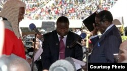 President Robert Mugabe was sworn in Thursday for another five year term following last month's disputed general elections