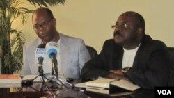 Angola,David Mendes (à esq.) e Francisco Viena (à dir.) membros da Associação de Advogados Mãos Livres, de Angola