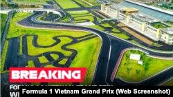 Ban tổ chức giải đua Công thứ 1 Vietnam Grand Prix thông báo huỷ bỏ giải đấu mà Việt Nam đặt nhiều kỳ vọng để quảng bá hình ảnh đất nước ra thế giới vì đại dịch COVID-19. (Ảnh: Formula 1 Vietnam Grand Prix)