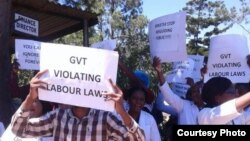 Doctors striking in Harare