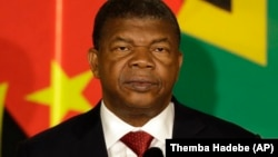 Le président de l'Angola Joao Lourenço lors d'une réunion à Pretoria, en Afrique du Sud, le 24 novembre 2017.