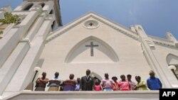 L'église Emanuel de Charleston, Caroline du sud, le 20 juin 2015. (Joe Raedle/Getty Images/AFP )
