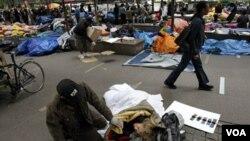 Desde el pasado 17 de septiembre hay manifestantes acampados en Nueva York.