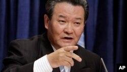 유엔 주재 북한대표부의 신선호 대사가 지난 2010년 6월 천안함 폭침 사건에 관한 기자회견을 가졌다.