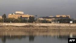 په بغداد کې د دجله رود په غاړه د امریکا د متحده ایالاتو سفارت