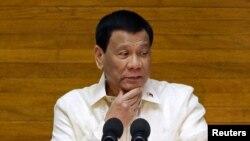 资料照:菲律宾总统杜特尔特
