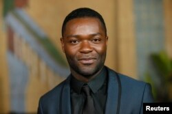 "FILE - Actor David Oyelowo, star of ""Selma"" who was overlooked in the 2015 Oscar nominations, says this year's lack of celebration of actors or color is ""unforgivable."""