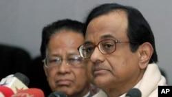 بھارتی وزیر داخلہ پی چدمبرم (فائل فوٹو)