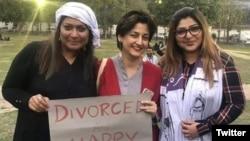 پچھلے سال لاہور میں ہونے والے عورت مارچ میں شریک خواتین (فائل فوٹو)