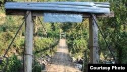 克欽難民前往雲南的一個過境通道(人權觀察提供)