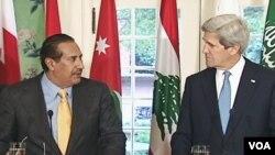 Američki državni sekretar John Kerry i premijer Qatara Sheik Hamad Bin Jassem Al Thani