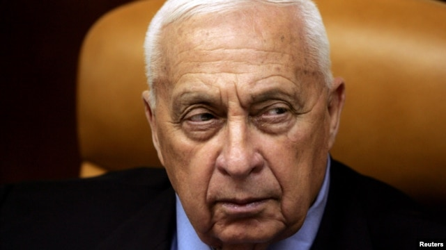 Israeli Prime Minister Ariel Sharon looks on during a meeting at his office in Jerusalem, Oct. 10, 2005.