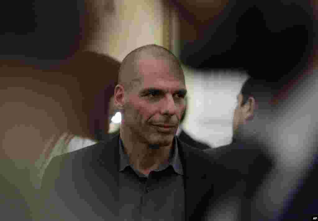 Finance Minister Yanis Varoufakis,an outspoken critic of the austerity measures, after being sworn in at the presidential palace in Athens, Jan. 27, 2015.