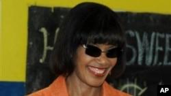 波希婭•辛普森•米勒去年12月29日在金斯敦參加議會選舉。她星期四宣誓就任牙買加總理。