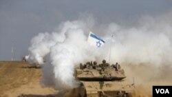 مستقر شدن نیرو های اسرائیلی در امتداد سرحد با غزه