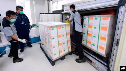 Vaksin Covid 19 Sinovac Disimpan Di Bio Farma Bandung