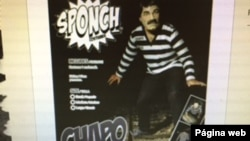 Screen Shot of El Chapo costume, sold by ghoulishproductions.com. 101315