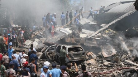 APTOPIX Indonesia Military Plane Crash
