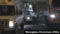 """Yuttasak Tanawan, """"Chef Tang,"""" a U.S.-based Thai chef was taken to an airport in an ambulance before his repatriation to Thailand."""