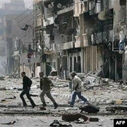 Libijski pobunjenici na ulicama Misrate