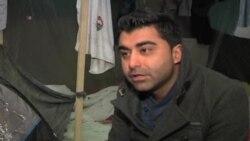 اعتراض پناهجويان افغان در بلژيک