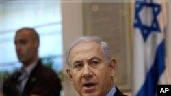 سهرۆک وهزیر ئیسرائیل بنیامین نهتانیاهو له میانهی کۆبوونهوهی لهگهڵ ئهندامانی حکومهتهکهی له ئۆرشهلیم، یهکشهممه 4 ی نۆی 2011