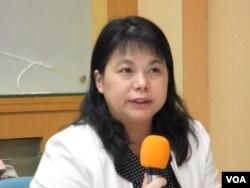 台灣陸委會經濟處長李麗珍 (美國之音張永泰拍攝)