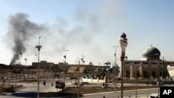 1月15号,伊拉克西部城市拉马迪的警察局遭到袭击