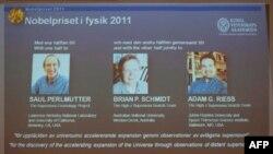 Fizika üzrə 2011-ci il Nobel mükafatının laureatları bəlli oldu