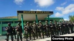 Pasukan gabungan TNI-Polri mengamankan desa-desa di Nduga, Papua, pasca penembakan kelompok bersenjata awal Desember. (Foto Courtesy: Kapendam XVII Cendrawasih Papua)