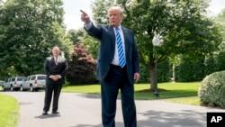 Le président Donald Trump après sa rencontre avec un officiel de la Corée du Nord à Washington, le 1er juin 2018.