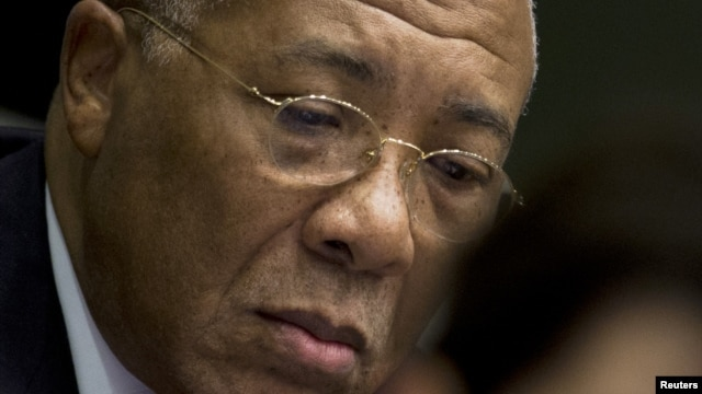 Former Liberian President Charles Taylor appears in court at the Special Court for Sierra Leone in Leidschendam, western Netherlands, January 22, 2013.