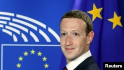 Марк Цукерберг. Брюссель, Бельгия. 22 мая 2018 г.