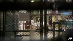 미군 관타나모 수용소 내부. (자료사진)