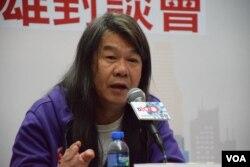 香港社民連立法會議員梁國雄。(美國之音湯惠芸)
