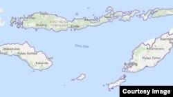 Peta Nusa Tenggara Timur.