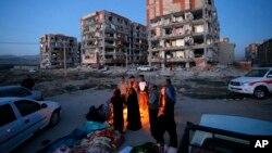После землетрясения. Город Сарпол-и-Захаб в западном Иране. 13 ноября 2017 г.