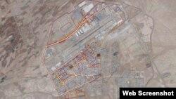Një hartë e aplikacionit Strava tregon një fushë aviacioni në Kandahar të Afganistanit